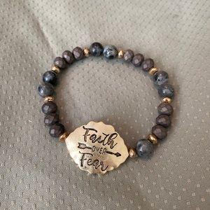 Jewelry - Faith over fear beaded bracelet